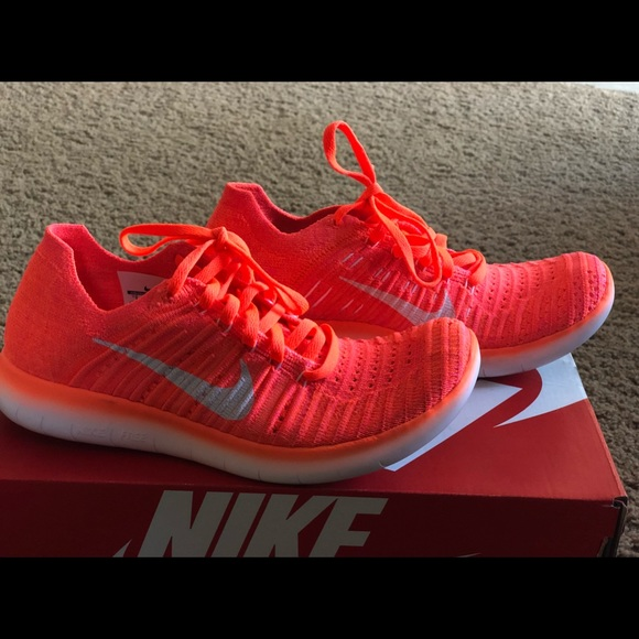 a42bbb39589c Nike WMNS Free RN Flyknit NEON ORANGE PINK. M 5acfedf331a37603536ab874.  Other Shoes ...
